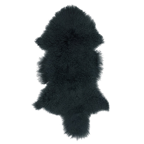 Mongolian Sheepskin Rug Moss Hides of Excellence - 60 x 100cm - Furry Sheepskin