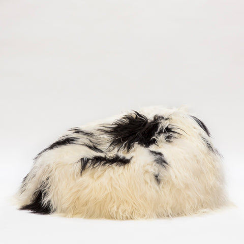 Icelandic Sheepskin Beanbag Spotted (unfilled) Hide of Excellence - 100 x 80cm - Furry Sheepskin