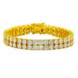 2 Row Tennis Bracelet w/ lab Diamonds - ShopVVS