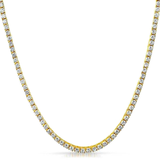 3mm Gold Plated Tennis Chain - ShopVVS