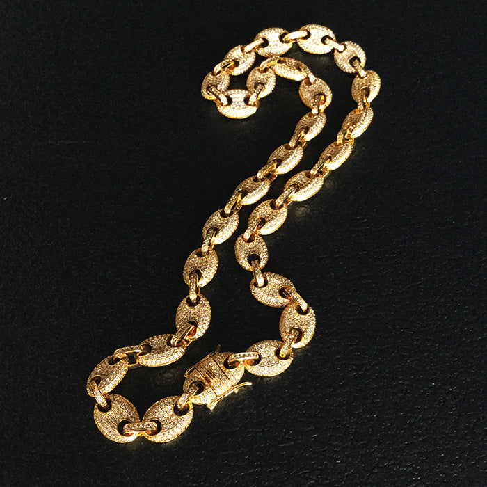 a4608bc14 ... 18k Gold plated Gucci Link Necklace - ShopVVS ...