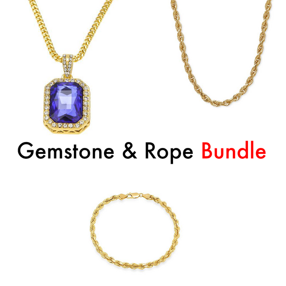 Gemstone & Rope Chain Bundle - ShopVVS