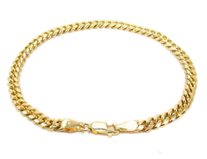Stainless Steel 3mm Cuban Link Bracelet
