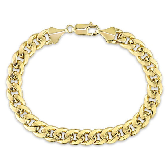 10k Yellow Gold Men's Cuban Link Bracelet 9.3mm - ShopVVS