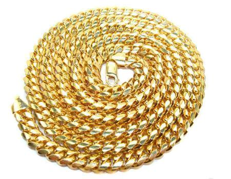 14k Gold-filled Miami Cuban Necklace - 3mm