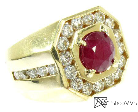 Mens Godfather Ruby Ring 1.10ct - ShopVVS