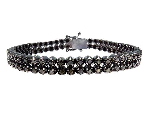 Prong Black Diamond Bracelet 7.00ct - ShopVVS