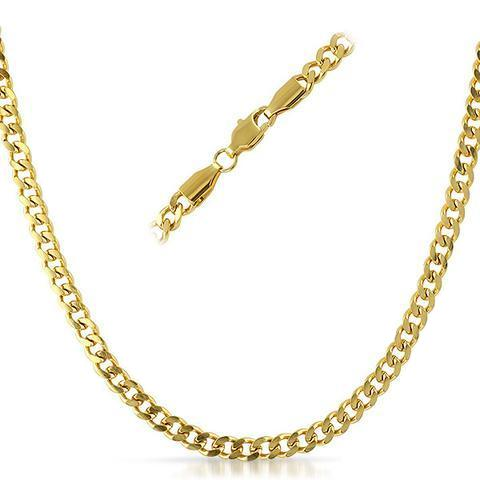 Stainless Steel Cuban Link Chain 3-5mm - ShopVVS