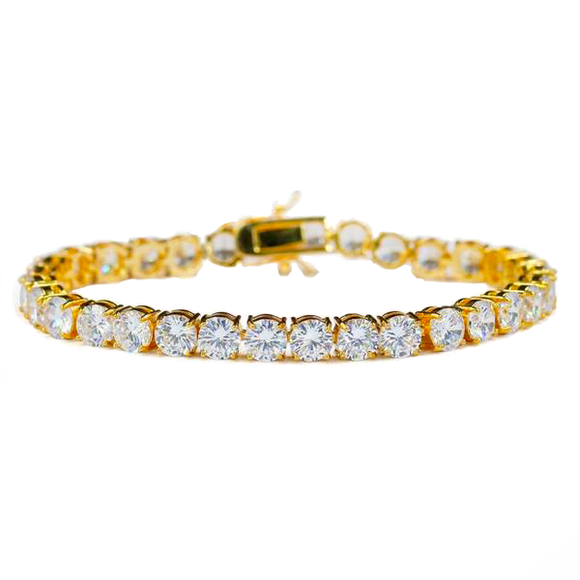6mm Tennis Bracelet 14k Gold Plated - ShopVVS