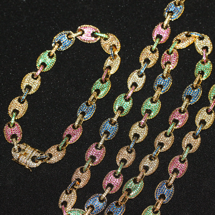 Gucci Link Chain >> 18k Gold Plated Gucci Link Necklace