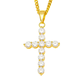 CZ Cross Necklace - ShopVVS