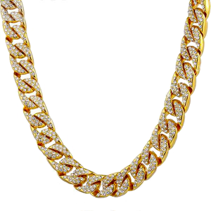 Miami Cuban Curb Link 14k Gold Plated Chain 14mm - ShopVVS