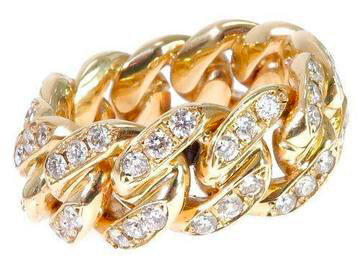 VS1 Diamond Miami Cuban Link Ring 2.50ct 10k Gold - ShopVVS