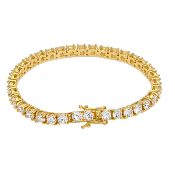 Double Clasp lab Diamond Tennis Bracelet - ShopVVS