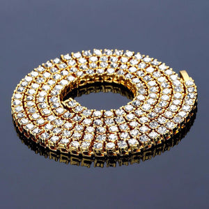 14k Gold Plated Mens Tennis Chain 5mm - Free - ShopVVS