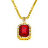 14k Gold Plated Gemstone necklace - ShopVVS