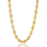 18k Gold plated Gucci Link Necklace - ShopVVS