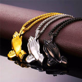 Praying Hands Pendant & Chain - ShopVVS
