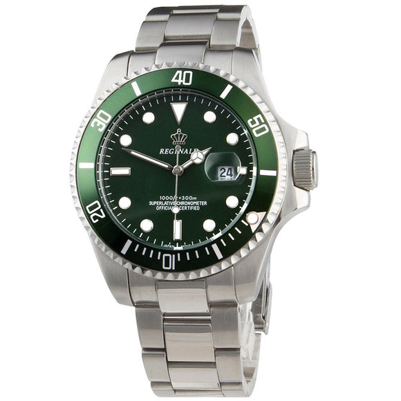 Submariner Luxury Rotatable Bezel Stainless Steel Watch Reginald - ShopVVS