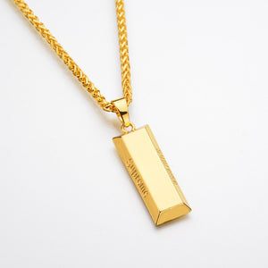 Gold/Silver Bar Pendant & Chain - ShopVVS