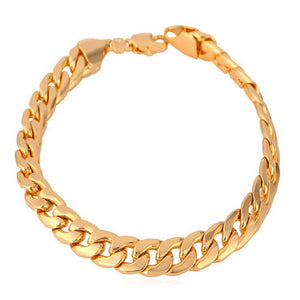 Gold Plated Cuban Link Bracelet 7mm - ShopVVS
