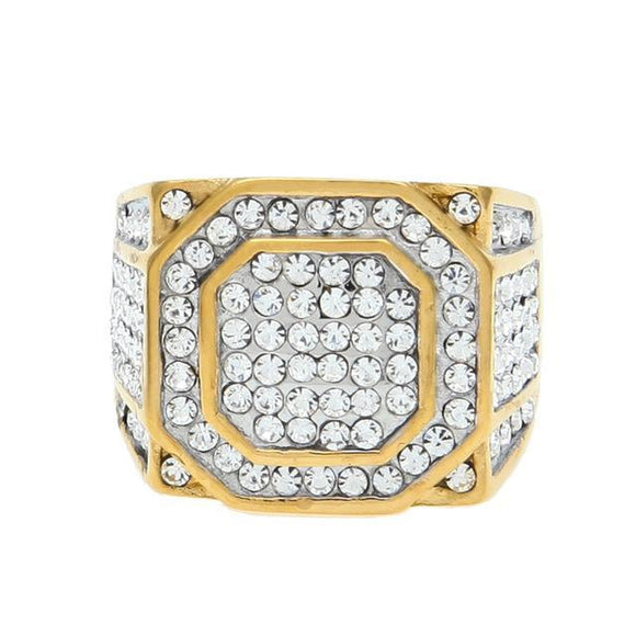 Iced out Square Ring CZ - ShopVVS