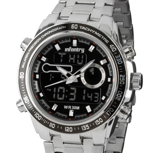 Seiko Military Sport Steel Wrist Watch for Men - ShopVVS