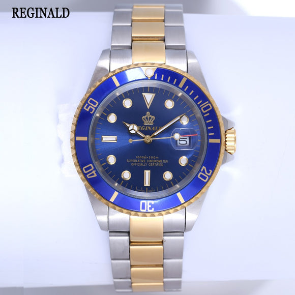 Reginald Luxury Two Tone Rotable Bezel Stainless Steel Watch - ShopVVS