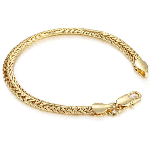 6mm ShopVVS Link 14k Gold Plated Bracelet 7.8