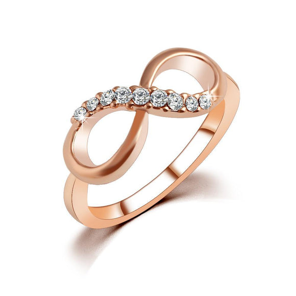 18k Rose Gold Plated Infinity Ring - ShopVVS