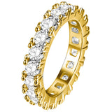 14k Gold Plated prong set CZ Eternity Ring - ShopVVS