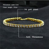14k Gold Plated Mens Diamond Tennis Bracelet Free - ShopVVS