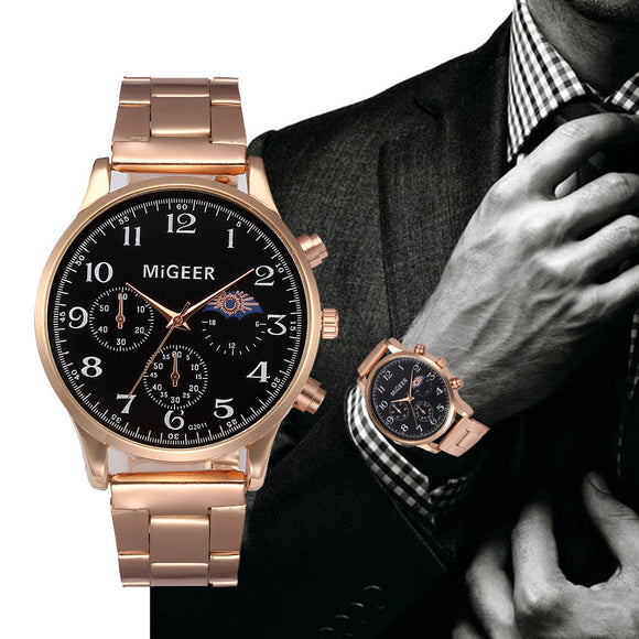 Waterproof Luxury Stainless Steel Men Watch - ShopVVS