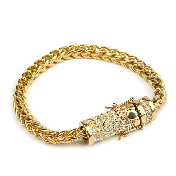 Franco Link Bracelet - Stainless Steel 14k Gold Plated