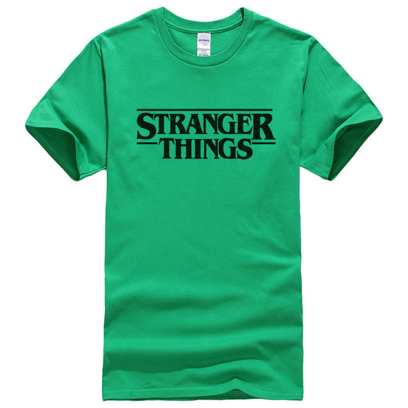 Stranger Things Letter Print T-Shirt - ShopVVS