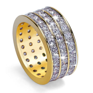3 Row Diamond Ring - ShopVVS