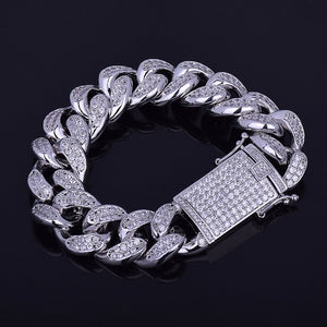 18mm Iced out Cuban Bracelet - ShopVVS