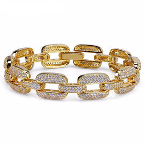 Gucci Link Bracelet Micro Pave simulated Diamonds - ShopVVS