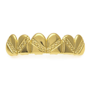 Gold plated Grill with design