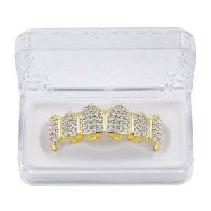 Iced out Grill with small fangs