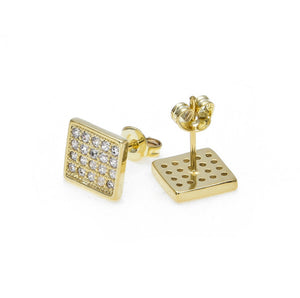 Gold Pave Stud Earrings - ShopVVS
