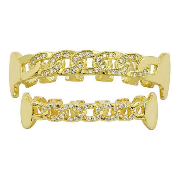 Cuban link Grill Iced out