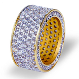 Gold Plated Micro Pave CZ Ring Fully Iced - ShopVVS