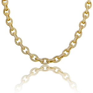 Iced out Rolo link Chain - ShopVVS