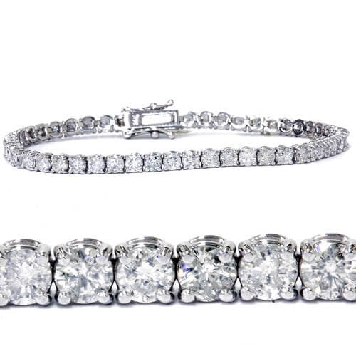 7ct Diamond Tennis Bracelet 14K White Gold (G/H, I1) - ShopVVS