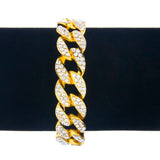 Cuban Link Bracelet, Iced out with CZ - ShopVVS