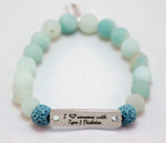 I love someone with T1D Bar Bracelet