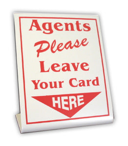Stand up, Red, Agents Please Leave Your Card