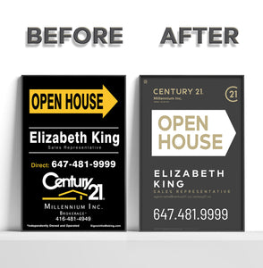 "Century 21 Heritage Group Ltd. - <font size=""4"" color=""#E0082F""><B>REFACE</B></font> Sandwich Boards"