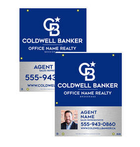Coldwell Banker - For Sale Signs - Silver & Blue Style
